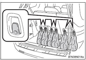 Toyota Sienna. Grocery bag hooks