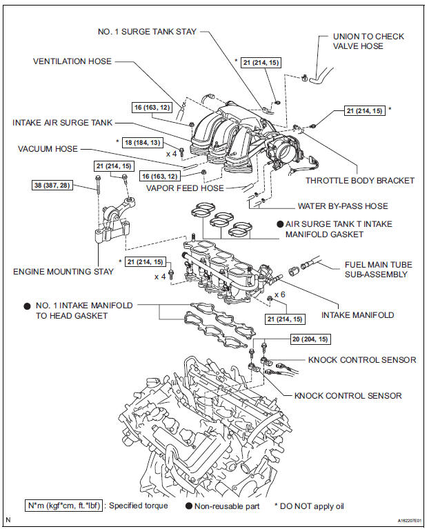 Toyota Sienna Service Manual  Knock Sensor