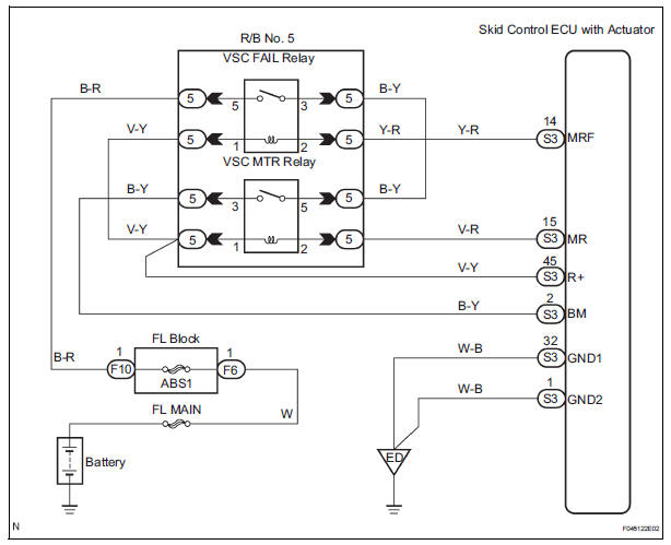Toyota Sienna Service Manual  Open In Pump Motor Circuit