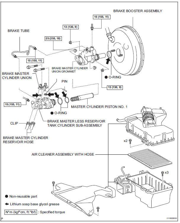 index36 toyota sienna service manual brake master cylinder brake control