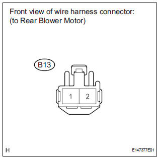 CHECK HARNESS AND CONNECTOR (REAR BLOWER MOTOR - BATTERY)