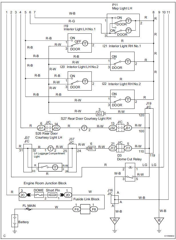 Toyota Sienna Service Manual: Illumination Circuit - Diagnostic trouble  code chart - Lighting system - LightingToyota Sienna Service Manual