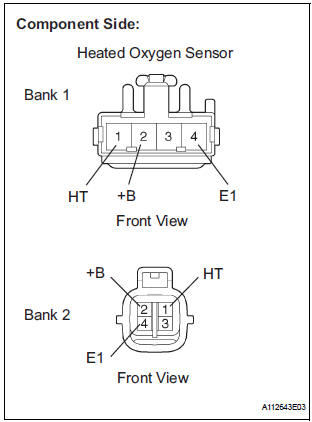 Toyota Sienna Service Manual: Oxygen Sensor Heater Control Circuit