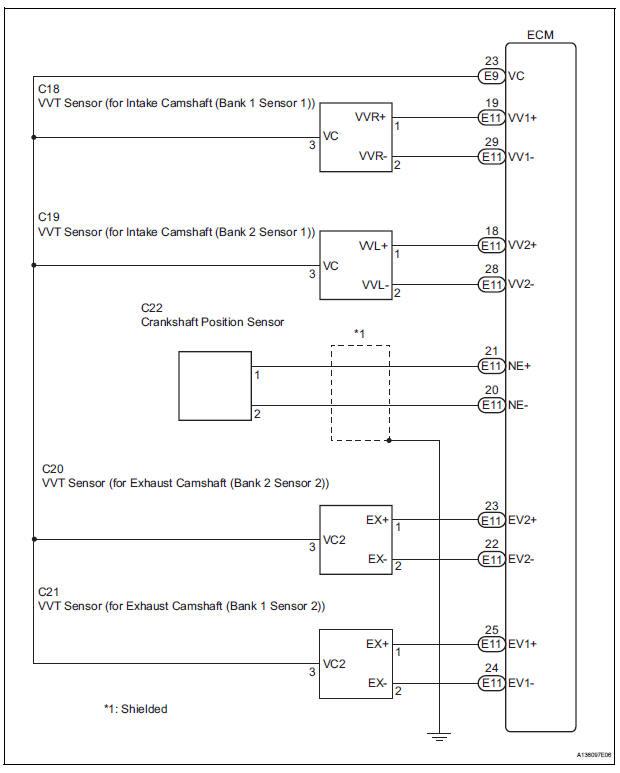 Toyota Sienna Service Manual  Crankshaft Position Sensor