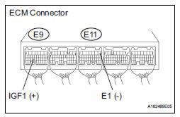 INSPECT ECM (IGF1 VOLTAGE)