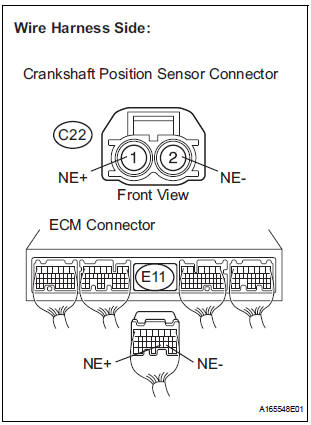 Toyota Sienna Service Manual: Crankshaft Position Sensor