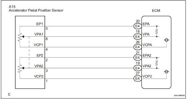 toyota sienna service manual throttle pedal position sensor rh tsienna net MAF Sensor Wiring Diagram Nissan Speed Sensor Wire Diagram