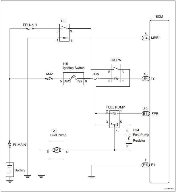 Toyota Sienna Service Manual  Fuel Pump Control Circuit
