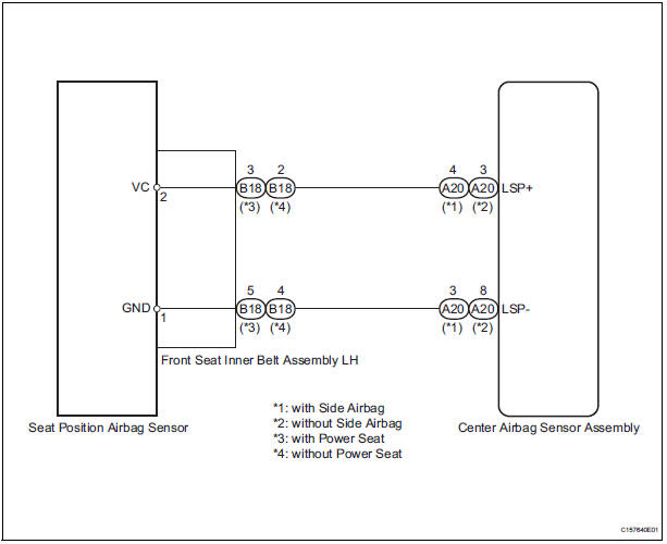 toyota sienna service manual: seat position airbag sensor circuit, Wiring diagram